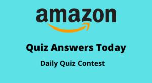 Amazon Quiz Answers