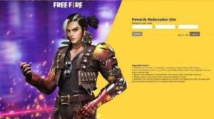 Garena Free Fire FF Redeem Codes Today Indian Server